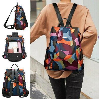 Women-Backpack Purse Anti-Theft Rucksack Waterproof Nylon Li