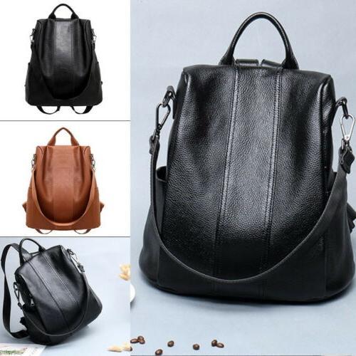Girls Ladies Fashion PU Leather Rucksack Travel Shoulder Bag