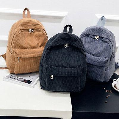 women men vintage rucksack corduroy backpack school