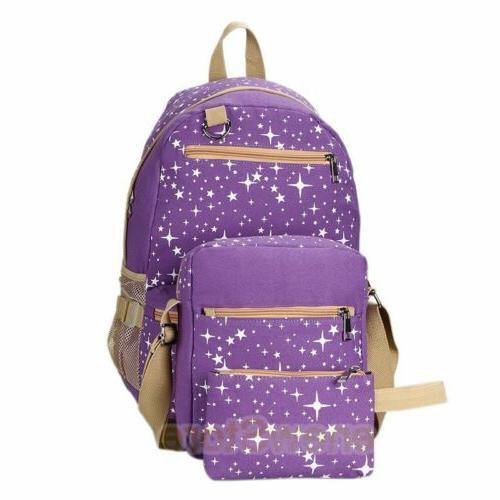 Women's School Book Bags Satchel Canvas Bag