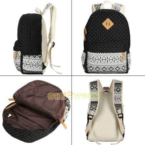 Women's School Bags Satchel Shoulder Canvas Travel