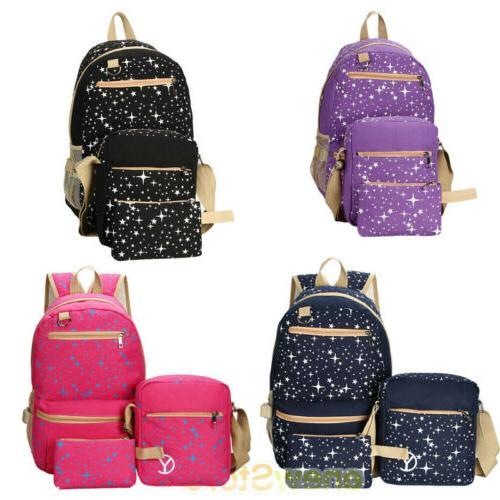 Women's Backpack School Bags Shoulder Rucksack Canvas Travel Bag