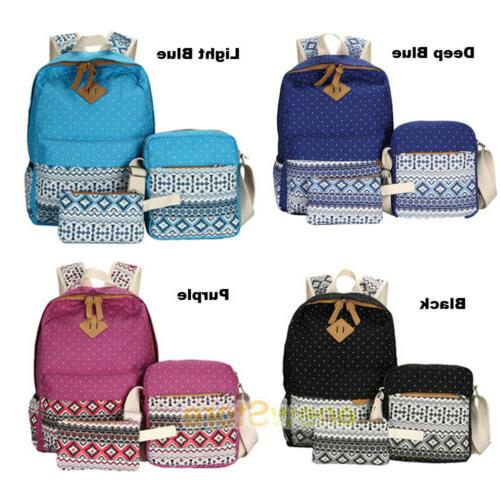 Women's Backpack School Bags Satchel Shoulder Canvas Travel