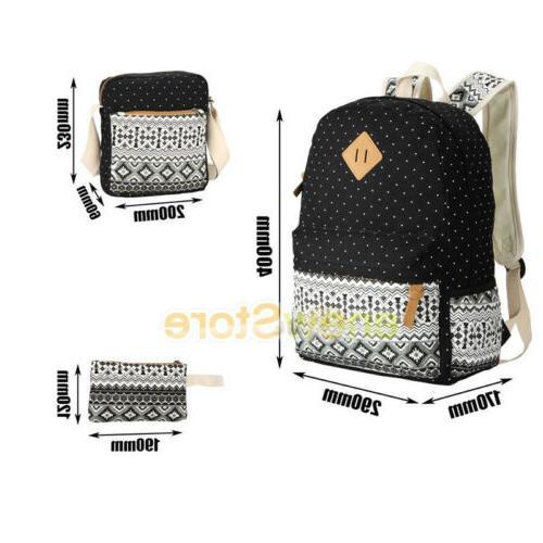 Women's Backpack Book Bags Shoulder Canvas
