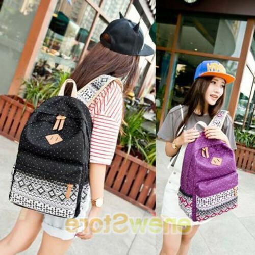 Women's Backpack School Bags Satchel Canvas