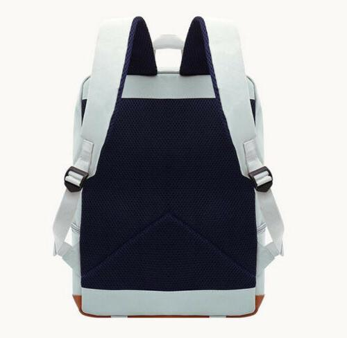 Women's Canvas Travel Rucksack Laptop Satchel Shoulder