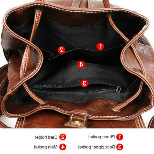 Women PU Synthetic Leather School Satchel