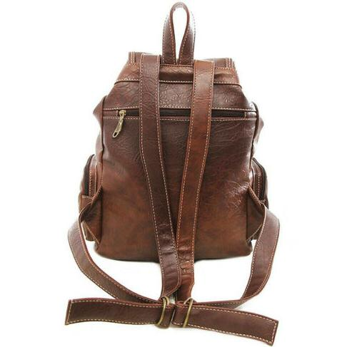 Women PU Leather Backpack School Handbag Satchel