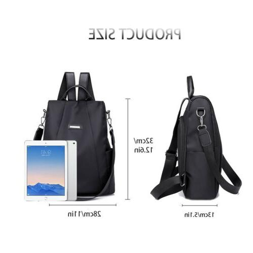 Women Waterproof Travel Backpack Nylon Shoulder Rucksack