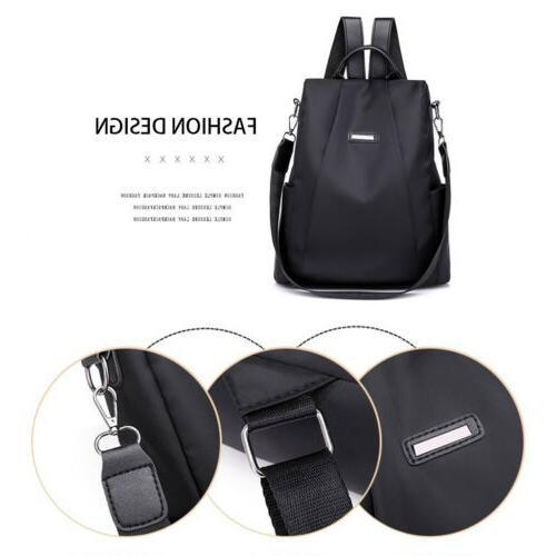 Waterproof Nylon Women Backpack Anti-theft Shoulder Rucksack