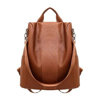 Women's PU Leather Anti-Theft Rucksack Bag