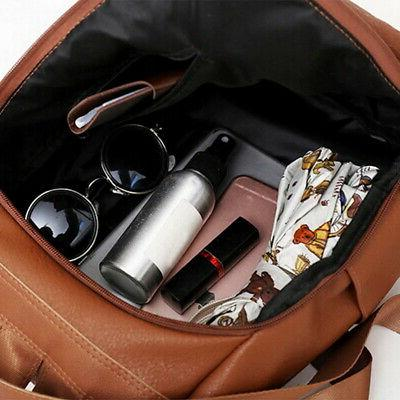 Women's PU Leather Backpack Anti-Theft Rucksack School Bag