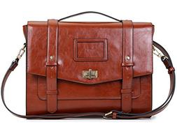 ECOSUSI Ladies Faux Leather Briefcase Shoulder Laptop Messen