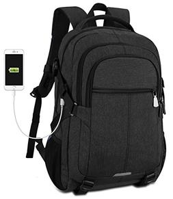 Tocode Laptop Backpack with USB Port for 15.6 Inch Laptop, B
