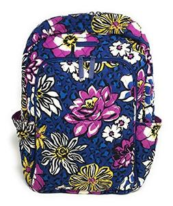 Vera Bradley Laptop Backpack  with Solid Color Interiors