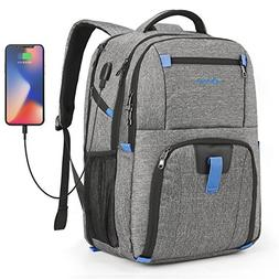 POSO Laptop Travel Backpack 17.3 Inch Computer Bag With USB