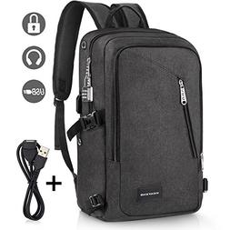 Laptop Backpack, WENFENG Business Computer Backpack with USB