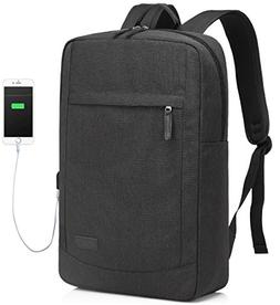 17 inch Laptop Backpack for Men with USB Charging Port Light