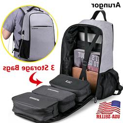 Laptop Backpack With USB Charging Port Travel Shoulder Noteb