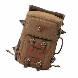 KAUKKO Outdoor Travel Men Backpack, Hiking Camping Canvas Ru