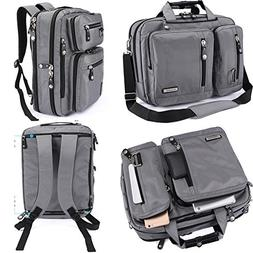 FreeBiz 18 Inches Laptop Briefcase Backpack Messenger Bag Sh