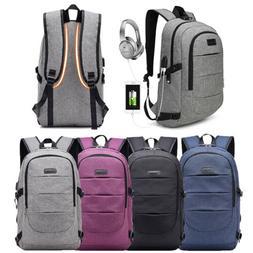 Large Anti-Theft Men Women Travel Backpack USB Charge Laptop
