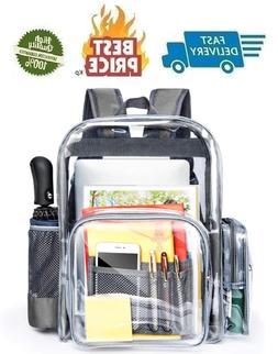 Large Clear Backpack Heavy Duty Transparent Backpack Bookbag