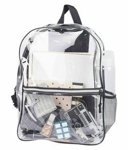Large Clear Backpack Pvc Plastic Heavy Duty Bag School Offic