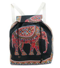 Large Elephant Backpack Cinch Bag Hippie Boho Bag Casual Day