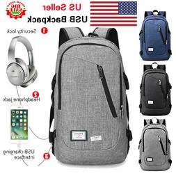 Large Laptop Backpack Anti Theft Mens Travel Bag with USB Ch