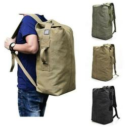 Large Military Tactical Canvas Backpack Army Bucket Outdoor
