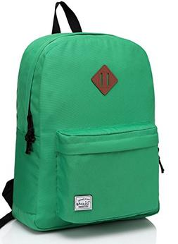 VASCHY Lightweight Backpack for School, Classic Basic Water