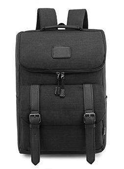 Weekend Shopper Lightweight Canvas Backpack Black Laptop Boo