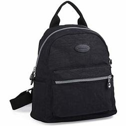 Lily &amp Drew Nylon Mini Casual Travel Daypack Backpack Pur