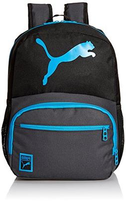 PUMA Boys' Little Backpacks and Lunch Boxes, Black/Blue, You