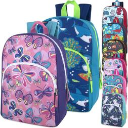 Lot of 24 Wholesale 15 Inch Character Backpacks in 8 Prints