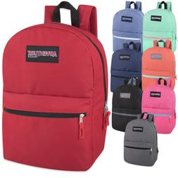 Lot of 24 Wholesale Adventure Trails 17 Inch Backpack in 8 S