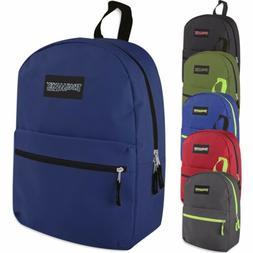 24 Wholesale Trailmaker Classic 17 Inch Backpacks-12 Color V