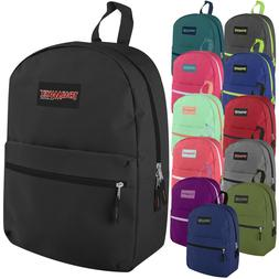 Lot of 24 Wholesale  17 Inch Backpacks in 12 Assorted Colors