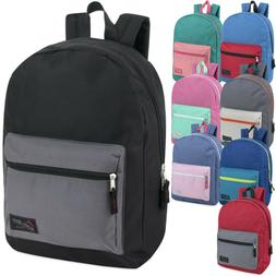 Lot of 24 Wholesale TrailMaker 17 Inch Black Backpacks in 5