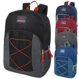 "Lot of 24 Wholesale Bulk 17"" School Backpacks Bungee Backpac"