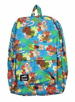 Loungefly - Disney MOANA  - Maui Hei Hei - Floral Nylon Back