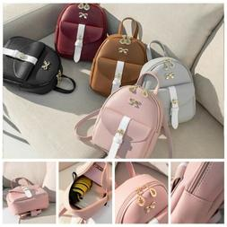lovely women girls mini bowknot backpack travel