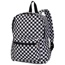 Luggage Multi Pattern Backpack Checkered Medium Padded Adjus