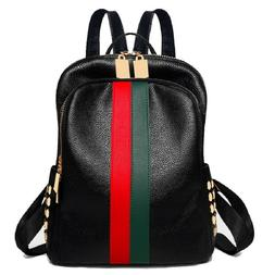 Luxury Famous Brand Designer Women PU Leather Backpack Fashi