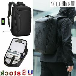 Men Anti-Thief 15.6'' Laptop Backpack Waterproof USB Travel