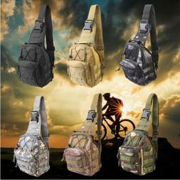 Men Backpack Molle Tactical Sling Chest Bag Assault Pack Mes