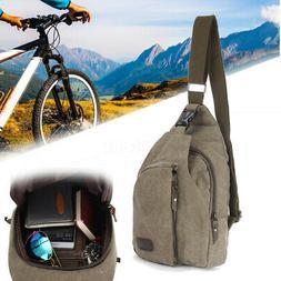 Men Chest Pack Bag Backpack Messenger Sling Sports Crossbody