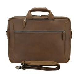 men leather backpack 17 laptop briefcase school