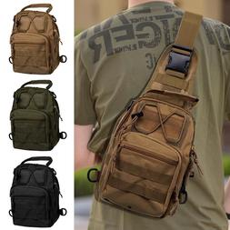Men Molle Tactical Sling Chest Bag Assault Pack Messenger Sh